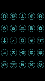 Teal On Black Icons By Arjun Arora - náhled