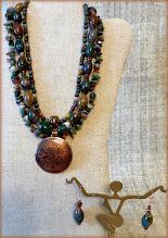 Photo: #166 COUNTESS ~ ГРАФИИНЯ Copper pendant, ... , copper $130/set SOLD