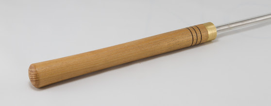 Photo: The clean-lined, osage-orange tool handle turned by Bert Bleckwenn for the Bring-Back Challenge.