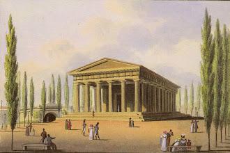 """Photo: Ursprünglich waren rund um den Tempel Pappeln gepflanzt.  Die Wiener wussten damit nicht viel anzufangen und dichteten:  """"Da stehen sie am Wege nun - die langen Müßiggänger,  und haben weiter nichts zu tun - und werden immer länger!"""""""