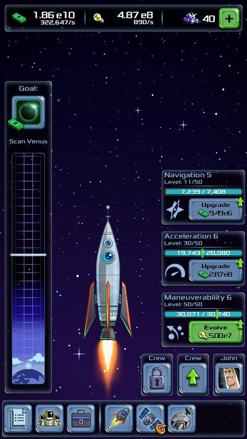 Screenshot 1 Idle Tycoon: Space Company 1.2.4.1 APK MOD