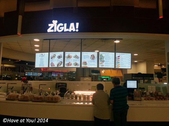Zigla store at the Robinson's Magnolia food court