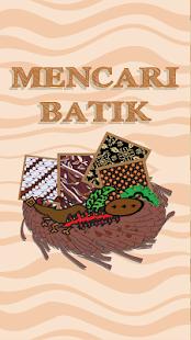 Mencari Batik