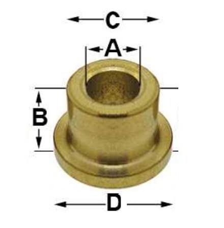 FODRING hål 6,9 mm 5/st 6,9 x 5,75 x 10,0 x 12,7 mm