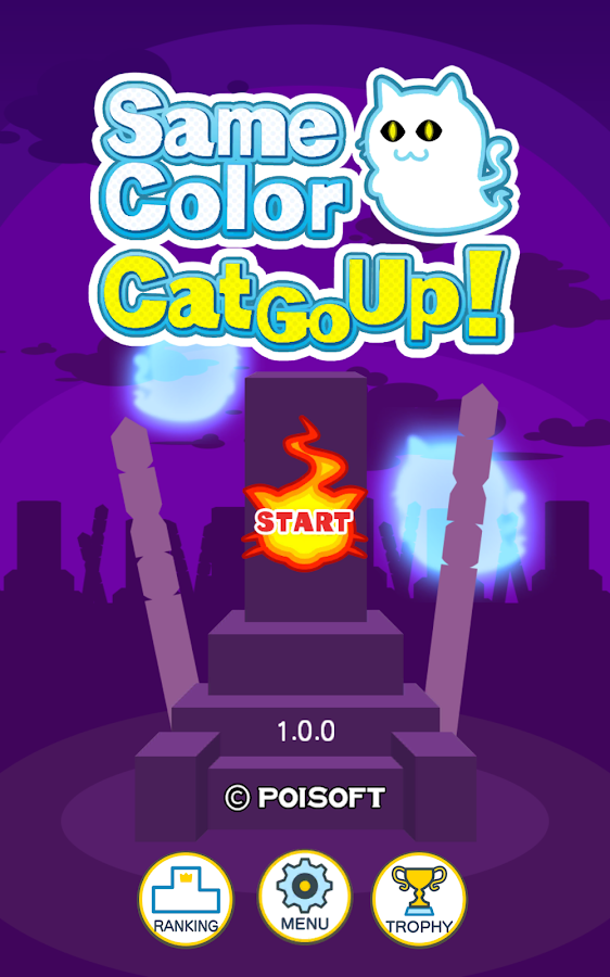 Same Color Cat Go Up!- screenshot