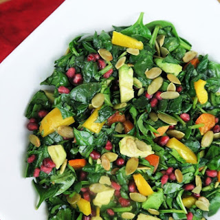 Pomegranate Rainbow Salad (Paleo, Low Carb)