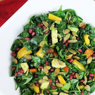 Pomegranate Rainbow Salad (Paleo, Low Carb).