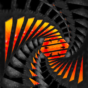 Curved ball of fire  by Pamela Hammer - Illustration Abstract & Patterns ( abstract, curve, art, ball of fire, illustration )