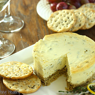 Gluten Free Lemon Herb Savory Cheesecake