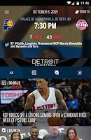 Screenshot of Detroit Pistons Official App