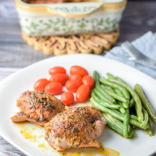 Easy Peasy Baked Chicken Thighs.