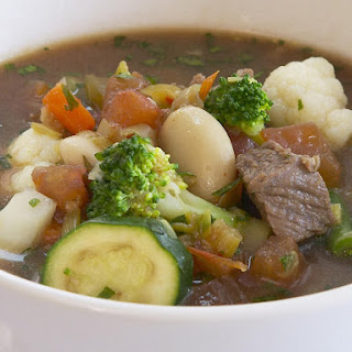 Beef, Vegetable and Lima Bean Soup.
