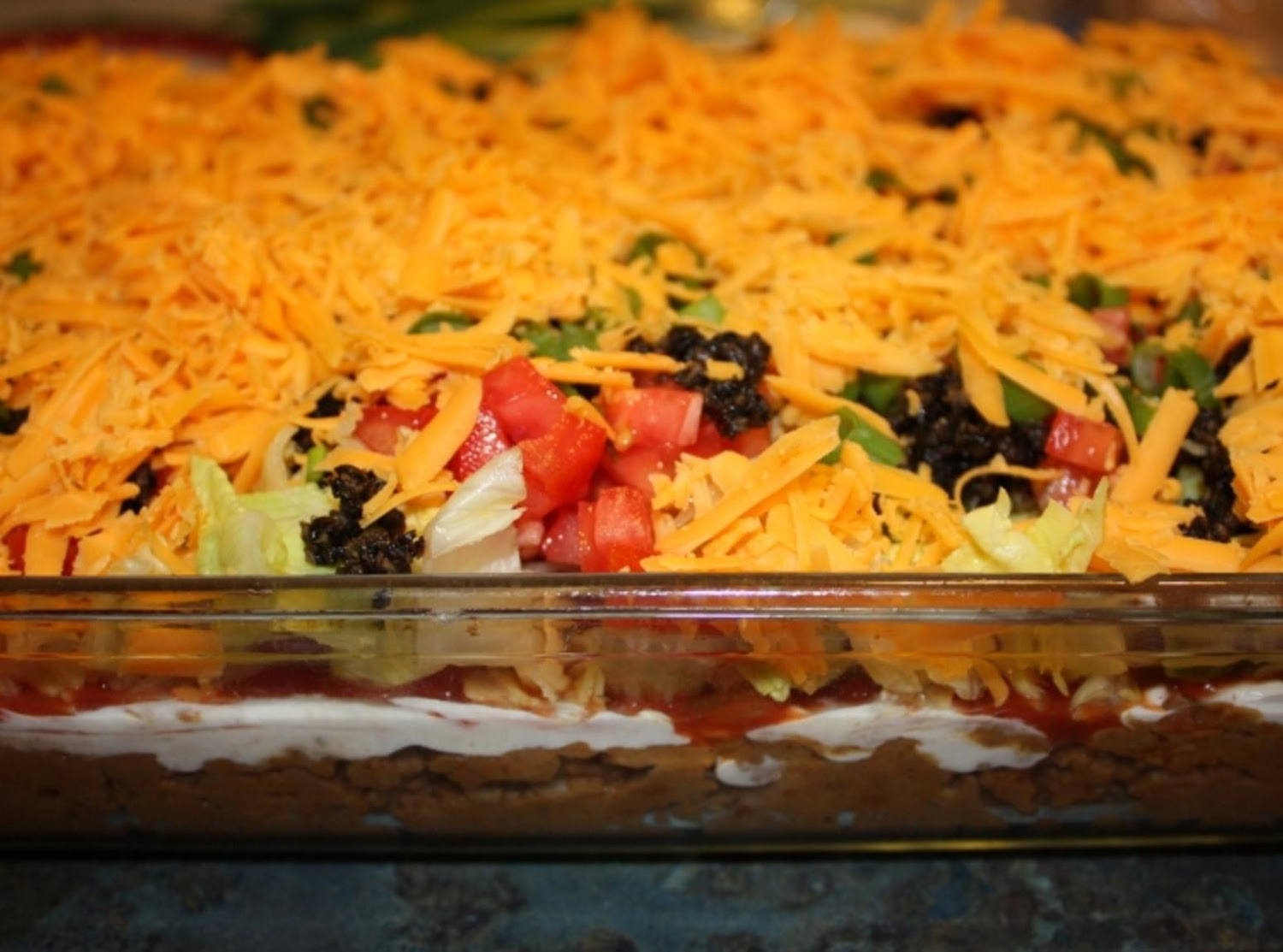 or More Layer Taco Dip Recipe | Just A Pinch Recipes