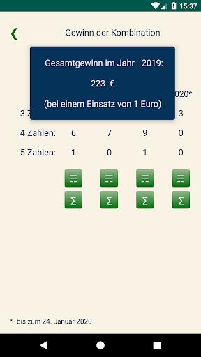 Keno DE  Statistik von Kombinationen 1.1.2 4