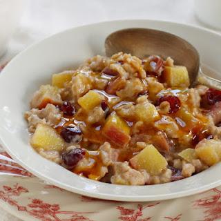 Fruited Oatmeal with Vanilla-Honey Yogurt