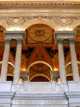 Photo: The top of the entrance to the main reading room.