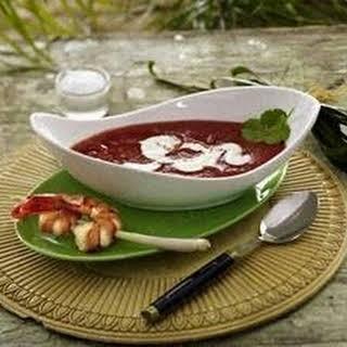 Exotische Tomatensuppe mit Garnelenspießen (Promidinner Dschungelcamp Vorspeise Jay Khan).