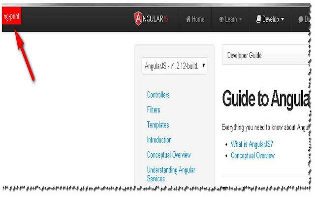 ng-Print: print AngularJS documentation chrome extension