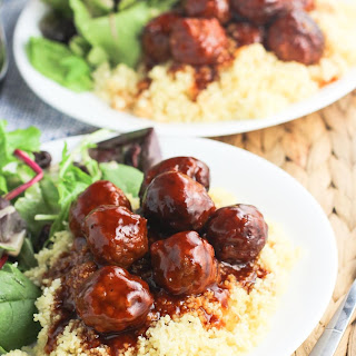 Sweet and Spicy Slow Cooker Meatballs