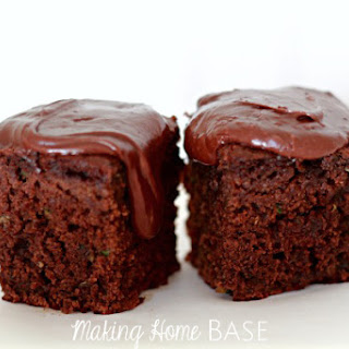 Zucchini Brownies with Milk Chocolate Frosting