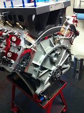Photo: De achterkant van de motor.
