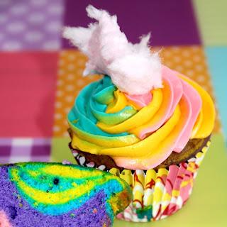 Cotton Candy Cupcakes.