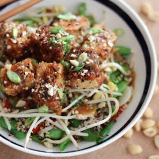 Vegan Crispy Tofu with Sweet & Sour Orange Sauce– New Years Eve Healthy Chinese Food.