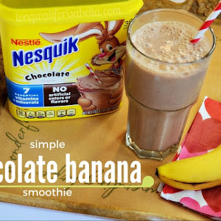 Easy Chocolate Banana Smoothie.