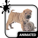 Cute Puppies Animated Keyboard + Live Wallpaper icon