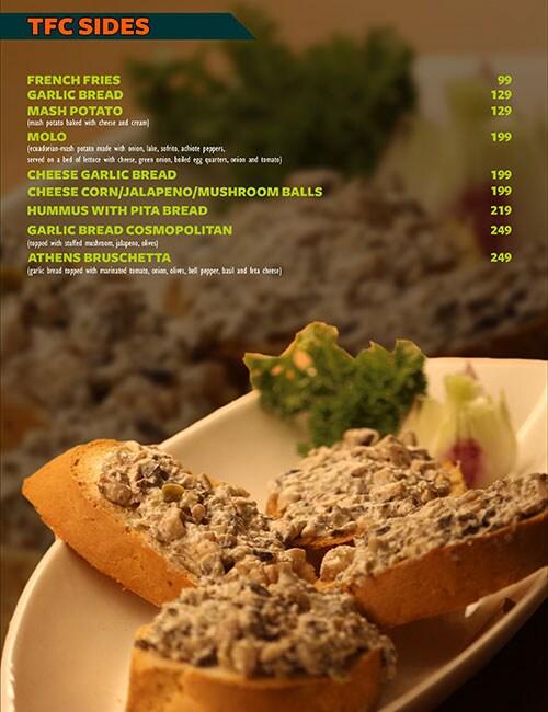 The Fusion Cuzine menu 13