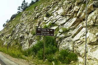 Photo: There were helpful geologic signs on the formations. The Ordovician Period was 450 million years ago.