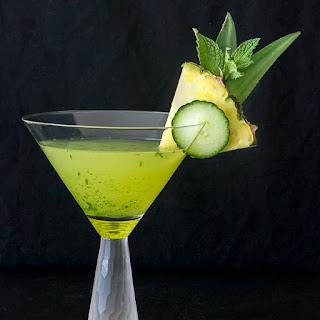 Cucumber Pineapple Mint Martini.