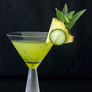 Cucumber Pineapple Mint Martini.