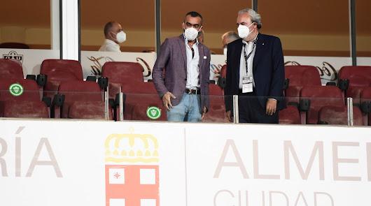 Mohamed El Assy, en el palco del Mediterráneo.