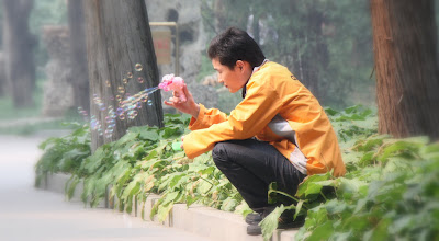 Photo: Day 190 -  Bubble Man in Zhongshan Park