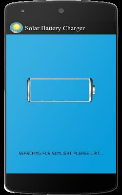 Solar battery charger prank - screenshot