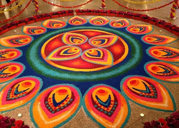 latest simple rangoli designs for sankranthi 2016