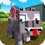 Blocky Dog: Farm Survival