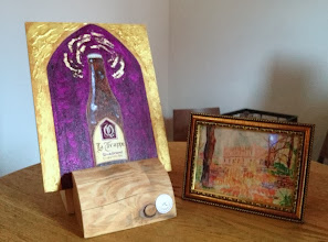 Photo: Trappist Beer Art by Rob Lloyd (bottle)and Ruth Berman(abbaye)