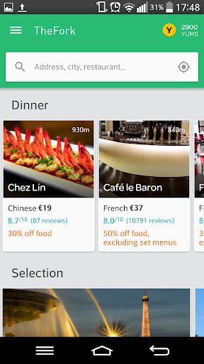 TheFork - Restaurants booking