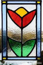 Photo: Stained Glass Panel made by Maureen Stuchbury
