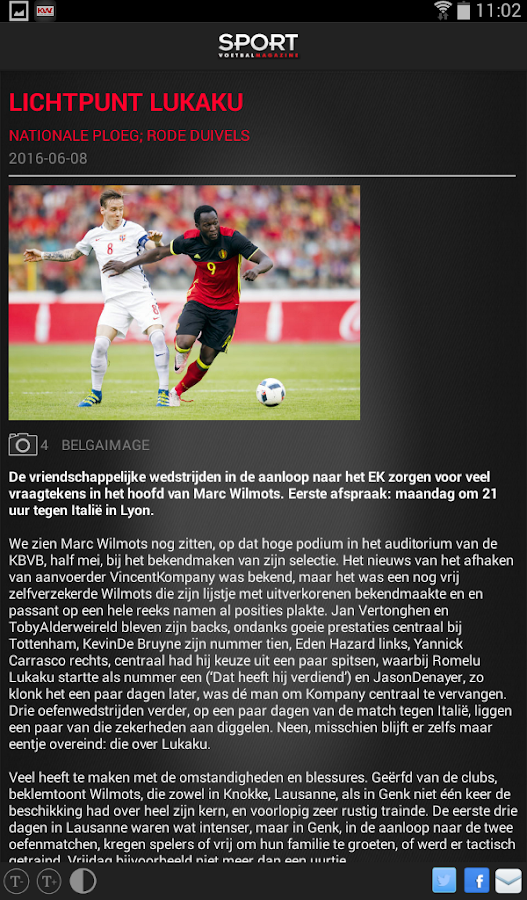 Sport/Voetbalmagazine HD- screenshot