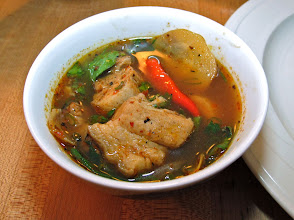 Photo: a bowl of northeastern-style hot-and-sour baby pork rib soup