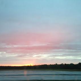 Autumn Sunset by Leah Bittner - Landscapes Sunsets & Sunrises