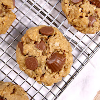 Oatmeal Peanut Butter Cup Chocolate Chip Cookies