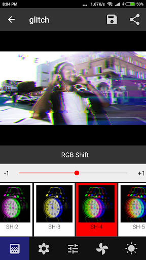 Onetap Glitch - Photo Editor 2.0.7 screenshots 1