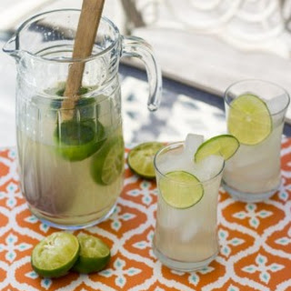 Thai Style Limeade with Lemongrass and Lime Leaves.