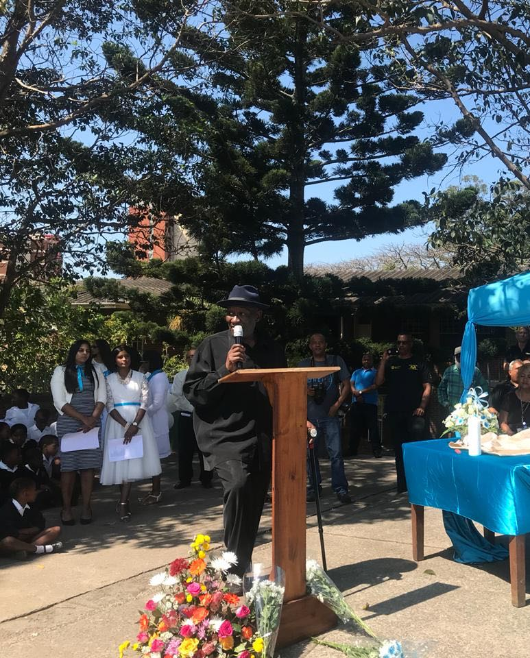 Police Minister Bheki Cele speaking at a memorial service for murdered Miguel Louw at his school' Rippon Road Primary' on Friday, September 14 2018.