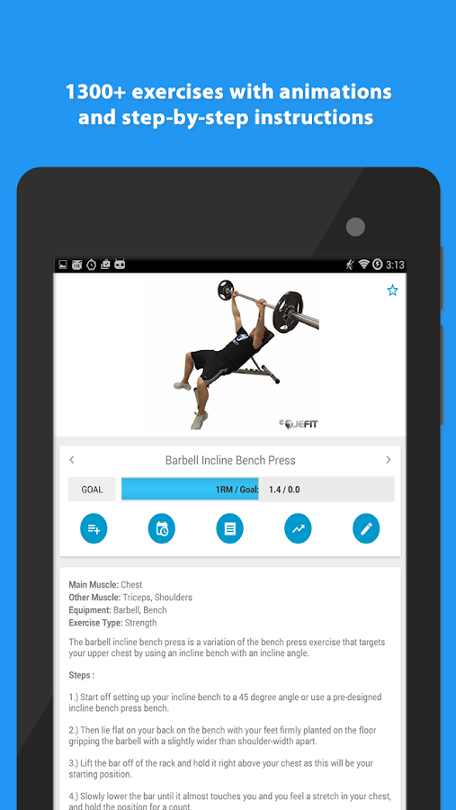 JEFIT Workout Tracker Gym Log- screenshot