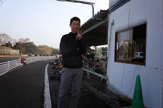 Photo: 宮本さん、今回はアバラ負傷の為、観戦です